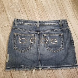 Bebe distressed skirt rhinestones